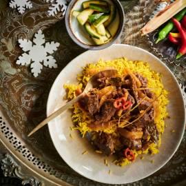 Rendang met nasi kuning