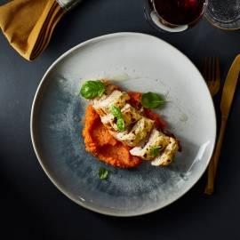 Gegratineerde kipfilet met parmaham en ricotta