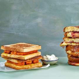 Visstick-tosti met ravigotesaus