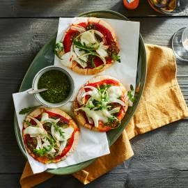 Pizzette met venkel en rucolapesto