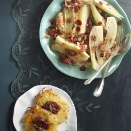Aardappelpoffers met gekruide cranberry's