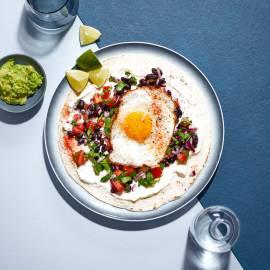 Ontbijt-burrito's met gebakken ei