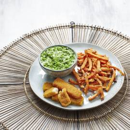 Mushy peas met fish & chips