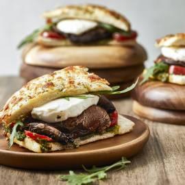 Portobelloburger met mozzarella