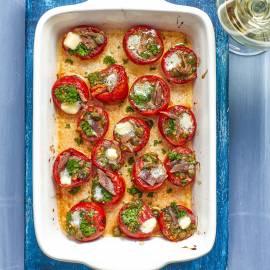 Gevulde tomaatjes uit de oven