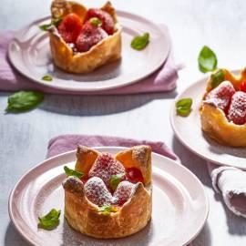 Aardbeientaartjes met marmelade