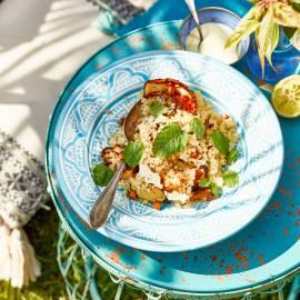 Quinoa-salade met bloemkool en currydressing