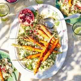 Geroosterde wortel met couscoussalade