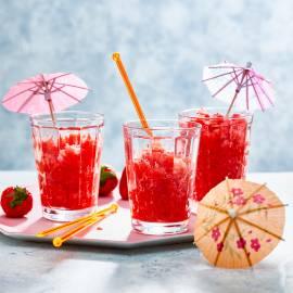 Rosé-aardbeiengranita