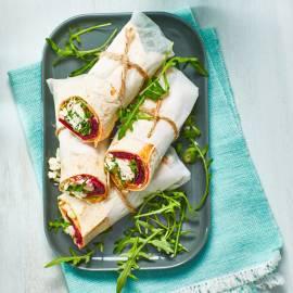 Wrap met hummus, bietjes en feta