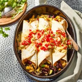 Gegratineerde enchilada's