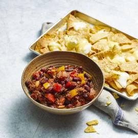 Chili con carne met nacho's