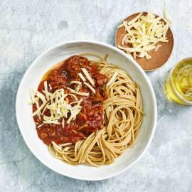 Spaghetti met tomaten-gehaktsaus