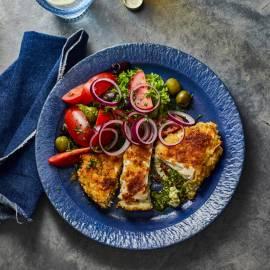Kip-cordon bleu met feta en pesto