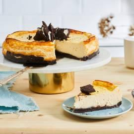 Cheesecake met chocokoekjes