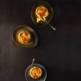 Bladerdeegschelpjes met citrusvulling