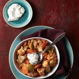Bloemkoolcurry met yoghurt