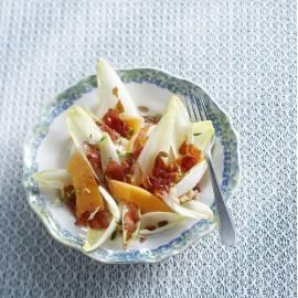 Cantaloupemeloen met krokante Parmaham
