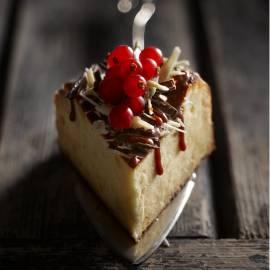 Cheesecake met chocoladekrullen
