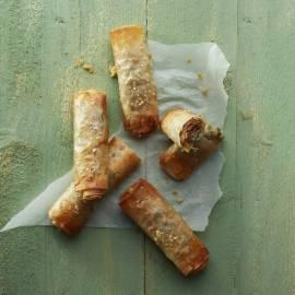Filorolletjes met ham en kaas