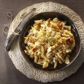 Fusilli met gorgonzola en walnoten
