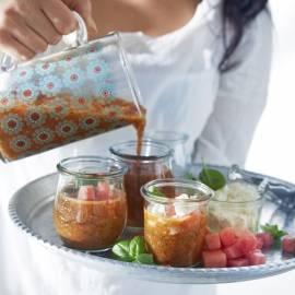 Pittige gazpacho met watermeloen