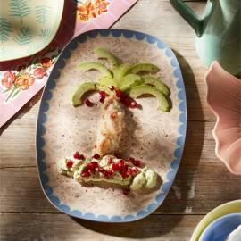 Amuse van avocado en krab
